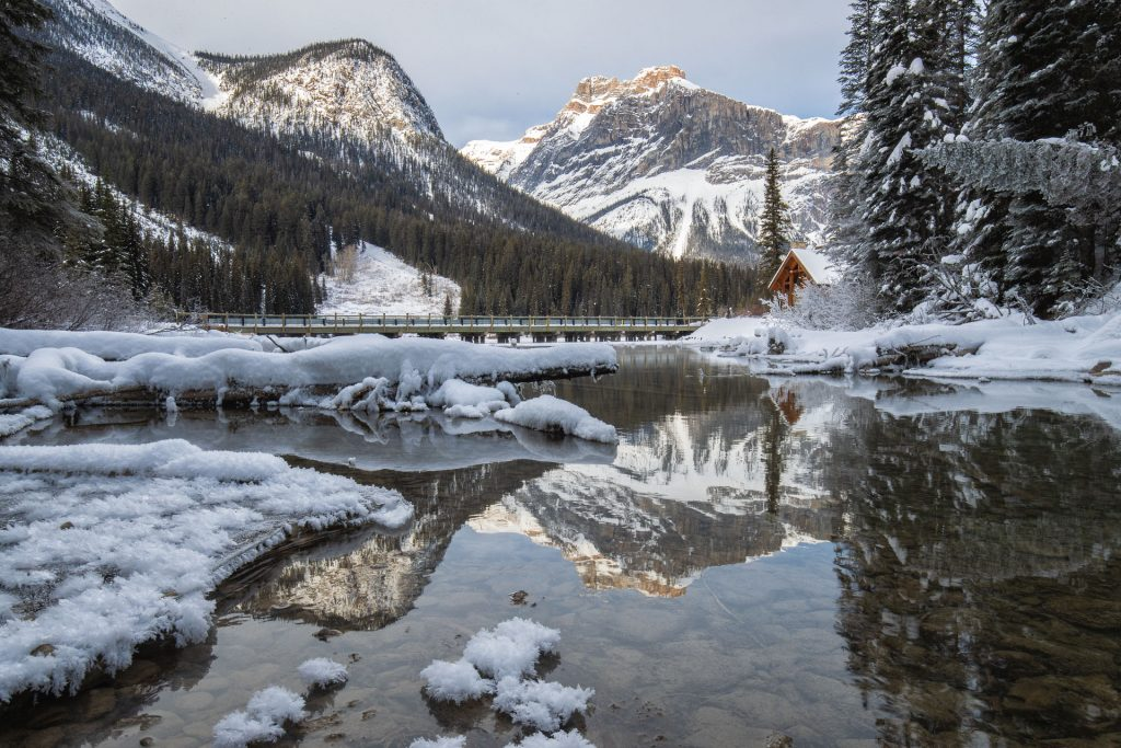 Emerald Lake Yoho Sunset Reflections Winter client Sue Townshend